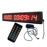 1.8 pollici 10 cifre giorni LED conto alla rovescia / Clock, carattere colore rosso, supporto massimo 10000 giorni di conto alla rovescia o il conte con ore minuti secondi