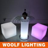 Silla del cubo del LED con la batería y 16 colores ligeros del RGB