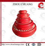 Cierre material durable de la vávula de bola de la seguridad del color rojo de los PP