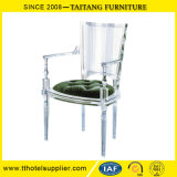 Alta presidenza posteriore del re Style Acrylic Chair Clear