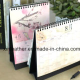 Calendario de escritorio de encargo al por mayor de la impresión del calendario