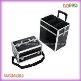 Beauty Salons (SATCMC010)のためのCrocodile 1つのPVC Professional Makeup Trolley Caseに付き4つ