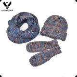 스카프 모자 장갑 세트가 형식 3PC 겨울에 의하여 뜨개질을 했다