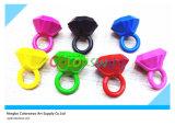 6 pastéis afiados do anel creativo da cor 3D para estudantes e miúdos