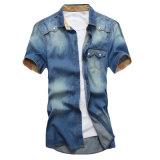 2016 chemises de denim de chemise de circuit de la mode des hommes faits sur commande
