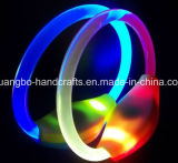 Kundenspezifisches Polyesterblinkende LED Wristbands
