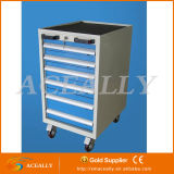 Metallo Steel Box Storage Roller Side Tool Cabinet con Drawers