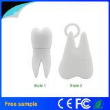 Azionamento promozionale dell'istantaneo del USB di figura del dente del PVC dei campioni liberi