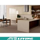 Armadi da cucina poco costosi di migliore di vendita nuova alta qualità di disegno con il portello di legno (AIS-K985)