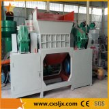 De dubbele Plastic Ontvezelmachine van het Afval van de Schacht