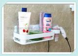 Шкаф ливня ванной комнаты организованный корзиной с чашкой всасывания