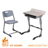 Iron Frame University School Furniture (Aluminuim ajustável)