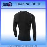 Forme physique serrée de gymnastique de compactage d'homme formant le T-shirt ordinaire Short-Sleeved