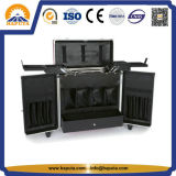 Fabrik-verschließbarer Aluminiumwerkzeugkasten mit 4 Tellersegmenten u. Taschen