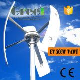 sistema verticale di fuori-Griglia della turbina di vento di asse 500W fatto in Cina