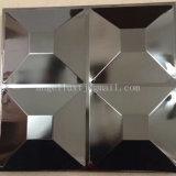Hoja de acero inoxidable grabada 3D decorativa de lujo del panel de pared