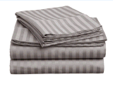 Striped italiano 4PC Queen Sheet Set Chocolate