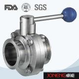 Из нержавеющей стали для пищевых продуктов Пневматический клапан-бабочка с Control Cap (JN-BV1002)
