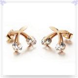 De Oorring van het Roestvrij staal van de Juwelen van de Manier van de Juwelen van het kristal (EE0235)