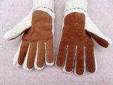 Nuovo doppio strato di inverno che lavora a maglia i guanti di azionamento caldi del cuoio 3m Thinsulate