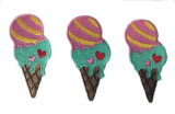 熱い販売のアイスクリームの刺繍パッチのヴェルクロバッジ