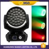 Luz del disco de la luz de la colada de la pista de la luz LED Moivng del efecto de etapa del precio de fábrica 37*10W
