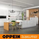 Meubilair Van uitstekende kwaliteit van de Keuken van de Lak van Oppein het Moderne Elegante Houten (OP16-L07)