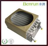 Condensador de aluminio del tubo de aleta con el ventilador