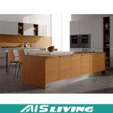 Mobília do gabinete de cozinha da melamina com tabela de pedra (AIS-K123)