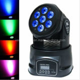 Goedkopere Mini 7*10W RGBW 4 in 1 Disco Party LED Wash Moving Head Light van DJ