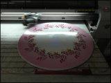 Couro, acrílico, vidro, t-shirt, metal, madeira, impressora Flatbed de Digitas de matéria têxtil
