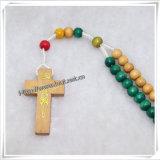 Il rosario di legno di Knoted, Colurful borda il rosario di Knoted (IO-cr339)