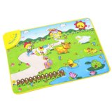 natale Gift di 7582912-Kids Piano Musical Touch Play Crawl Mat Baby Fun Farm Animal Game Child Toy