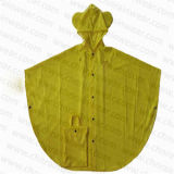 PVC novo Waterproof Rain Poncho de Style Yellow Color para Children