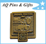 Pin Badge di Series 4h Antique Lapel del grossista con Clover (badge-138)