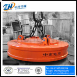 Electroimán de elevación de la grúa circular para el desecho de acero que dirige con el ciclo de deber del 75% MW5-210L/1-75