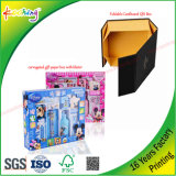 Rectángulo de regalo de papel plegable de la fábrica de encargo de la impresión del paño/del juguete/del cosmético/del embalaje de la cocina