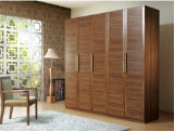 Ritz Bedroom Furniture Sliding Door Coffee Color Solid Wood Wardrobe