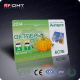 Cartão feito sob encomenda programável da impressão RFID de Monza 6