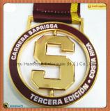 回転金メダル、柔らかいエナメル円形亜鉛合金メダル(JINJU16-048)