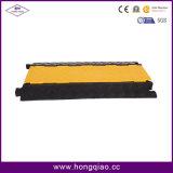 Couvre-câbles en caoutchouc de couverture jaune des 5 Manche