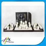 Venta al por mayor de acrílico de la visualización del reloj de la visualización del soporte del reloj del negro del precio de fábrica