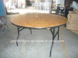 둥근 나무 Foldable 다리 대중음식점 테이블 식탁