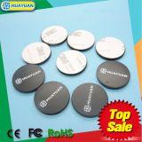 13.56MHz RFID MIFARE付着力の接着剤が付いている標準的な1k PVCディスクディスク札