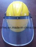 Защитный лицевой щиток гермошлема, забрало Faceshield PVC/PC, защитная маска забрала PC для шлема безопасности, забрала защитной маски PVC, прозрачного забрала защитной маски, зеленой защитной маски