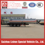 Tri Axle 30000L Stainless Steel Fuel Tanker Chemical Liquid Sulphurous Acid Semi Trailer Truck