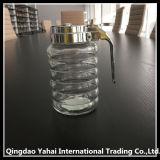 Lidの500ml Band Pattern Glass Storage Jar