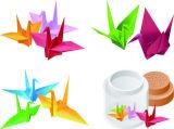 크기 120*120mm Origami 방안지 두 배는 착색한 기술 DIY 다채로운 수공지 편들었다