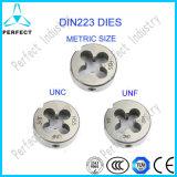 Плашки машины HSS метрического размера DIN223 круглые