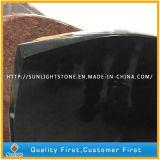 Lápides pretas absolutas cinzeladas mão do granito de Shanxi para o memorial
